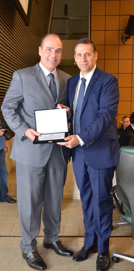 Denis Calazans (esq) e Fernando Capez (dir)